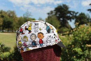 CYCLING CAP CHARLIE BROWN PEANUTS HANDMADE IN USA, NO FROM CHINA   S M L