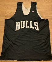 Vintage 90's Champion Chicago Bulls Black Basketball Jersey Men's XL NBA Jordan