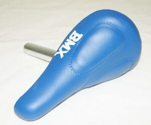 """KID'S BICYCLE SEAT W/ 22.2mm POST BLUE CRUISER LOWRIDER BMX for 12"""" or 16"""" bikes"""