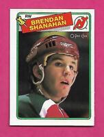 1988-89 OPC  # 122 DEVILS BRENDAN SHANAHAN  ROOKIE NRMT-MT  CARD (INV# D0914)