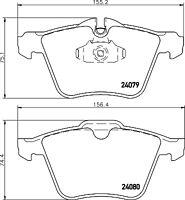 Mintex Front Brake Pad Set MDB3263  - BRAND NEW - GENUINE - 5 YEAR WARRANTY