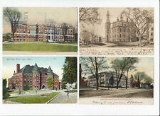 5 Vintage Postcards - Massachusetts High Schools - Posted - Common Addressee