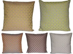 """Check Design Print Square 16"""" X 16"""" Cushion Cover Pillow for Sofa Bed Multicolor"""
