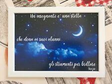 Quadro Stampa Fotografica con Swarovski Idea Regalo Maestra / Insegnante 33x24cm