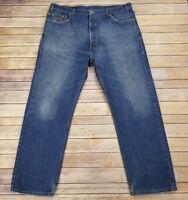 Vintage Levi's 505 Men's 42x30 Regular Straight Leg Jeans Blue USA Made