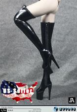 "1/6 Over The Knee High Heels Boots Hollow For 12"" PHICEN TBL Kumik Figure ❶USA❶"