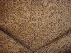 7-5/8Y KRAVET 15947 PEAT SOFT BLACK FRENCH GOTHIC CHENILLE  UPHOLSTERY FABRIC