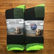 3 PAIRS 11-14 HEAVY DUTY AUSTRALIAN MERINO EXTRA THICK WOOL WORK SOCKS