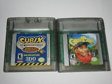 Nintendo Game Boy Color Lot Of 2 Games - Cubix, Cyber Tiger