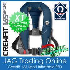 CREWSAVER AUTOMATIC & HARNESS CREWFIT 165 SPORT PFD NAVY BLUE - AUTO INFLATABLE