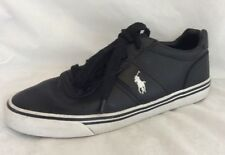 POLO By Ralph Lauren Size 8.5D HANFORD Leather Sneakers Black $79