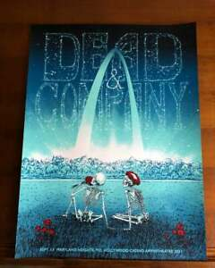 Dead and Company Saint Louis Poster Hollywood Casino Maryland Heights 2021 St
