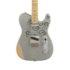 Fender Brad Paisley Road Worn Telecaster Electric Guitar, SIlver Sparkle (NEW)