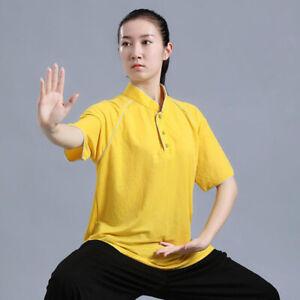 Linen Chinese Kung Fu Tai Chi T-Shirt Tops Pants Cool Martial Arts Uniform Suit