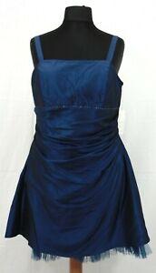 bezauberndes Abendkleid Cocktailkleid von Magic Nights in Blau Gr 50 - NEU