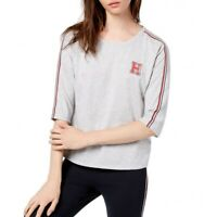 TOMMY HILFIGER SPORT NEW Women's Logo Elbow-sleeve Casual Shirt Top TEDO