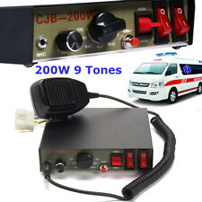200W 9-Sound Tones Car Truck Warning Alarm Police Siren Horn Speaker MIC System