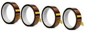 4 HEAT TRANSFER RESISTANT TAPE ADHESIVE 20mm x 33m POLYIMIDE for SUBLIMATION MUG