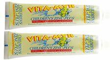2 Pack Vita-Myr Children's Zinc-Plus Herbal Natural Toothpaste w/Xylitol 5.4 Oz