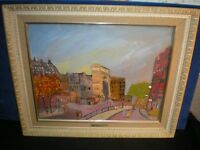 Vintage JOHANNES SCHIEFER Impressionist Oil Painting on board ST. DENNIS GATE