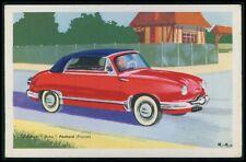 Panhard Cabriolet Dyna France Automobile car original old 1950s Tobler postcard