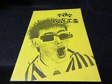 Toy Dolls 1993 Japan Tour Concert Program Book Olga Punk