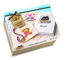 House of crafts cross stitch carte kit starter craft sew 3 greetings cards SC060