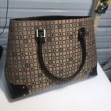 Liz&Co  Pink Brown Design Extra Large Work Tote Bag With A Lot Of Storage 16x14