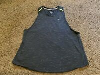 Women's Nike Running DRI-FIT Gray Racerback Athletic Tank Top Size Medium