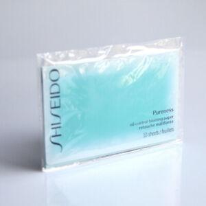 Shiseido Pureness Oil - Control Blotting Paper 10 Sample Sheets Brand New No Box
