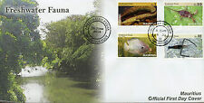 Mauritius 2016 FDC Freshwater Fauna 4v Set Cover Nile Tilapia Eels Fish Stamps