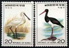 Mint Hinged Birds Asian Stamps