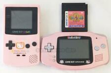 NINTENDO GAME BOY ADVANCE COLOR HELLO KITTY LIMITED PINK CONSOLE SYSTEM SET