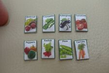 1/12th dolls house - VEGETABLE SEED PACKETS  - SG