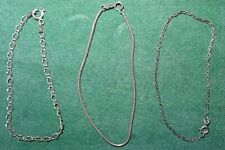 Hallmarked Silver Bargain of the week Three Vintage Solid Silver Bracelets all