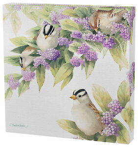 Marjolein Bastin Visiting the Beautybush 12 x 12 Gallery Wrapped Canvas