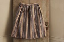 Vintage striped skirt French woman's clothing c 1950's