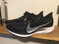 Men's Nike Zoom Pegasus 35 Turbo Sz 10.5 Running Shoes AJ4115-001 black white