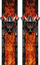 FireFighter Face Shield Flames Truck Bed Band Stripes Decal Sticker Graphics