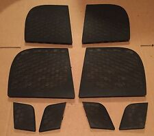 AUDI A2 2000 2005 tweeter speaker grill trim covers soul black set front & back