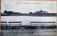 Kewanee, IL 1909 Postcard: Winchnout Park, Pavilion & Bridge - Illinois Ill