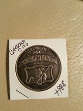 Crescent city 1988 heavy silver ox mardi gras doubloon orleans steamboat