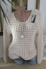 Douillette grossier pull en tricot 36 38 40 extra-large BOHO chaud couleur chair