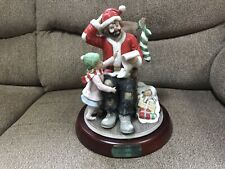 Flambro Emmett Kelly Jr Clown Figurine Spirit Of Christmas Vii Limited Edition