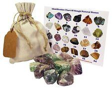 Fluorite Rough Natural Stones 1 Lb (.5 Kg) Bulk Reiki Chakra Healing Crystals Mi