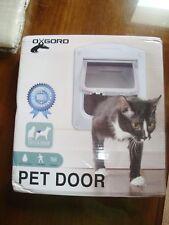 """New Dog Cat PET DOOR Oxgord 9"""" X 8"""" Clear 4 Way Locking Door Easy install"""