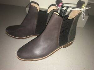 JOULES Chelsea Westbourne Leather Boots Tweed Backs Sz 4 5 6 7 £140 FreeUKP&P