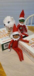 Elf on the Shelf A Christmas Tradition Girl/Boy/Arctic Fox Elves Doll Book boxes