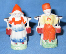 Vintage Dutch Boy & Girl Figurines made in Japan 1950's - FREE SHIPPING