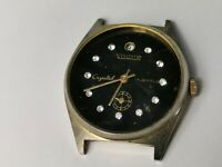 Vintage Vogue Crystal 17 Jewels Men's Sub-Dial Date Watch for Repair